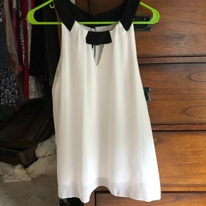 White with black accents summer top!